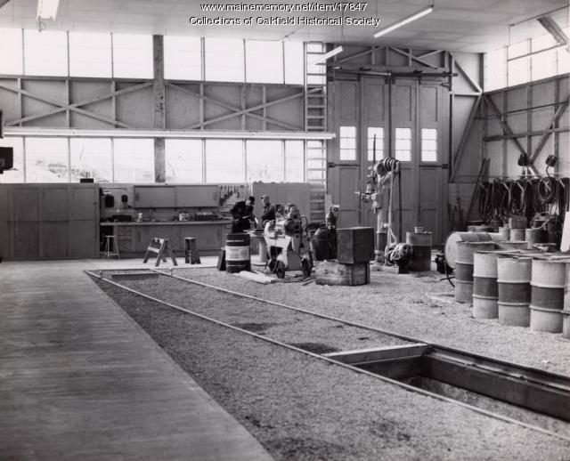 Bangor and Aroostook Railroad's Houlton Repair Shop, c. 1965