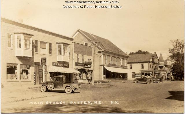 Main Street, Patten, ca. 1935
