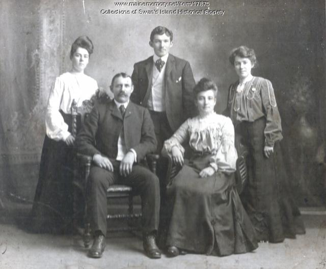 Emory Gott and family, Swan's Island, ca. 1900