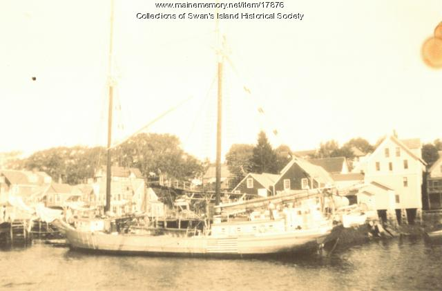 Fishing in the Old Days, Swan's Island Harbor
