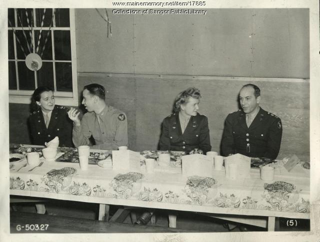 Thanksgiving at Dow Field, Bangor, 1944