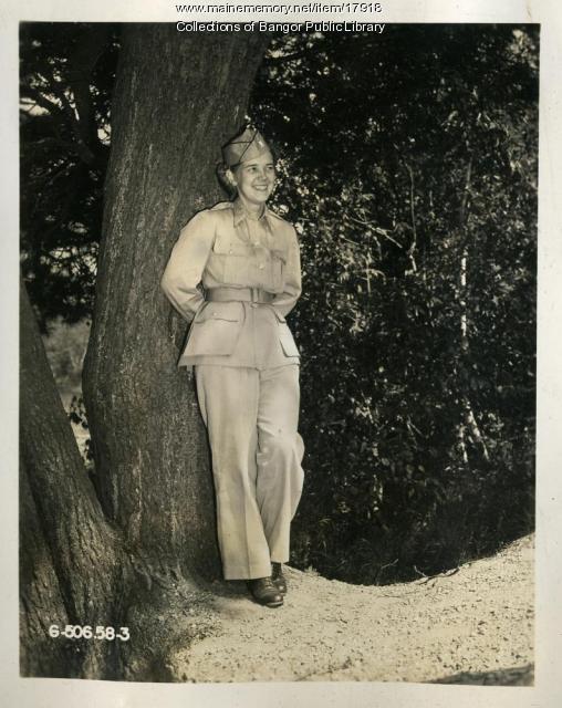 WAC CBI theatre portrait, Dow Air Field, Bangor, ca. 1944