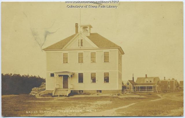 Steep Falls grade school building, ca. 1920