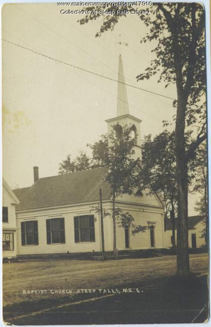 Baptist church, Steep Falls, ca. 1930