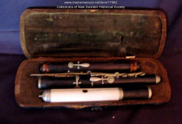 Wooden flute, New Sweden, ca. 1890
