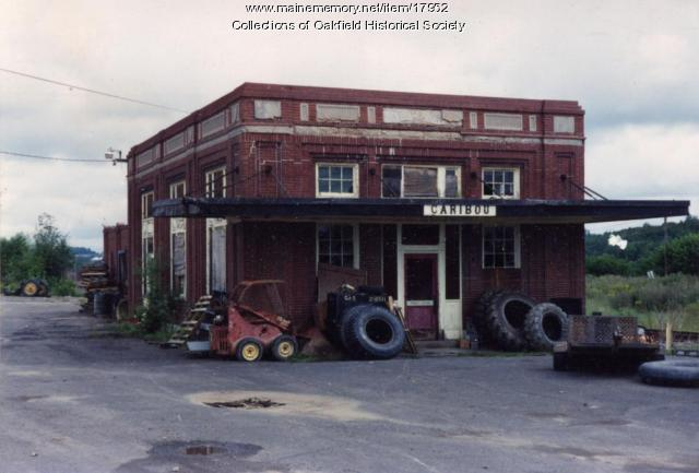 Bangor and Aroostook Railroad Station, view 2, Caribou, c. 1990