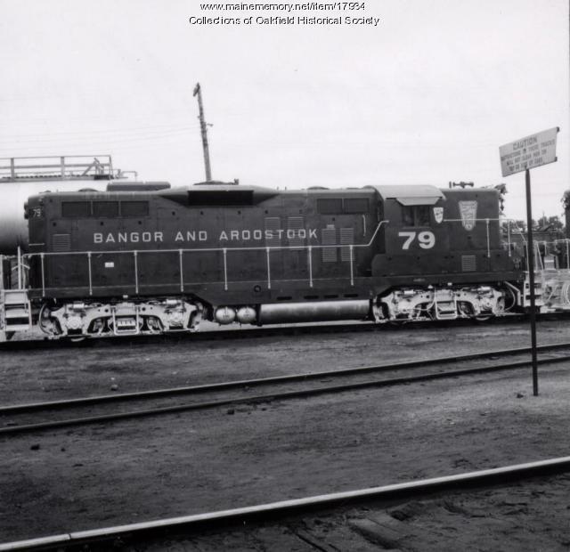 Bangor and Aroostook Railroad engine 79, c. 1970