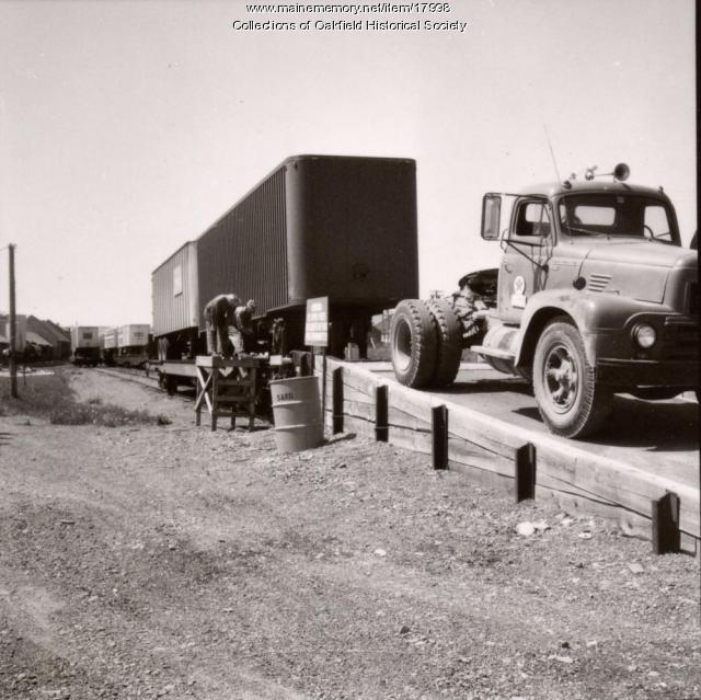 Bangor and Aroostook Railroad intermodal transfer facility, c. 1965