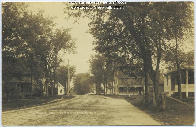Main Street, Steep Falls, Maine, c. 1930