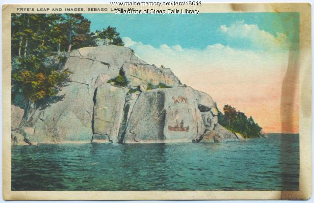 Frye's Leap, Sebago Lake postcard
