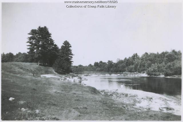 Up Saco River at Steep Falls, ca. 1920