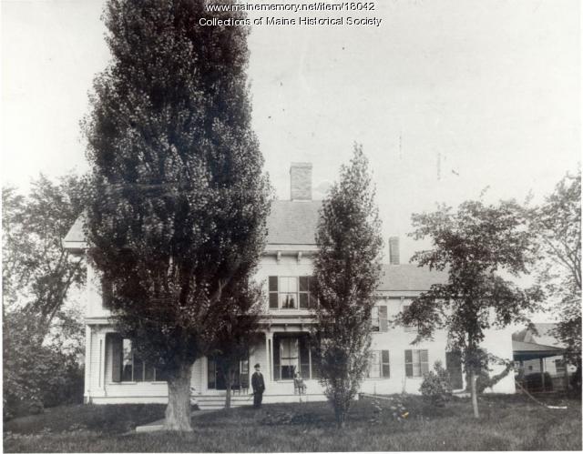 Melvin Preble home, Bangor, ca. 1900
