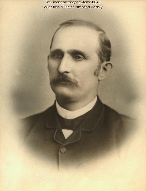 Dr. Melvin Preble, Bangor, ca. 1880