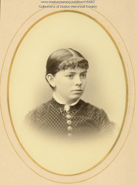 Carrie Thompson Lowell, Portland, ca. 1890