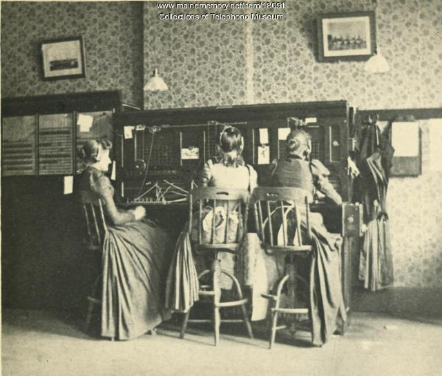 Switchboard operators, Lewiston, ca. 1893