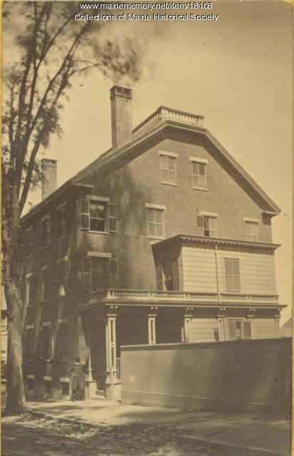 Abner Lowell home, Portland, ca. 1880