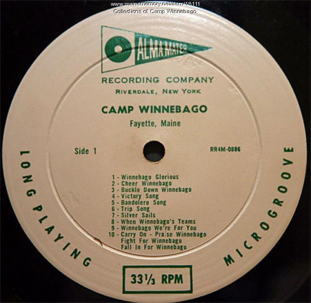 Camp Winnebago recording of Winnebago Glorious