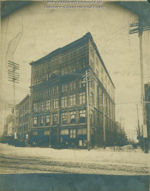 Lancaster Building, Congress Street, Portland, ca. 1900