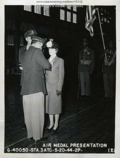 Air Medal Pesentation, Dow Field, Bangor, 1944