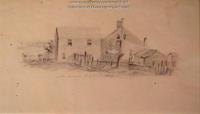 Public House sketch, Bangs Island, 1829