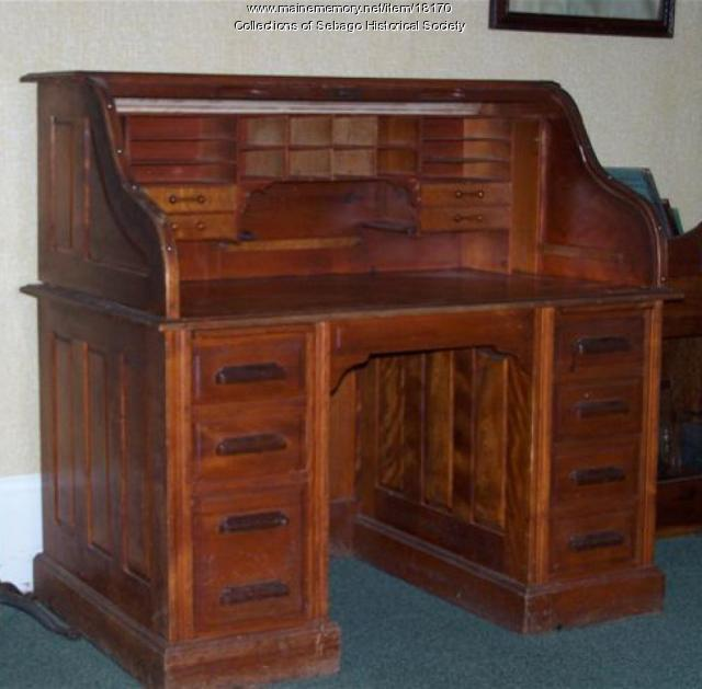 Maine Memory Network Sebago Post Office Desk Ca 1915