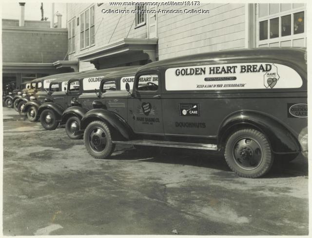 Maine Baking Delivery Trucks, Auburn, ca. 1940