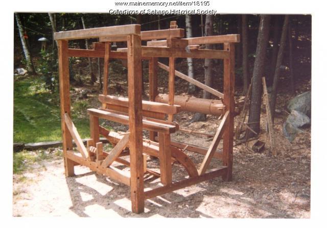 Attic loom, North Sebago, ca. 1850