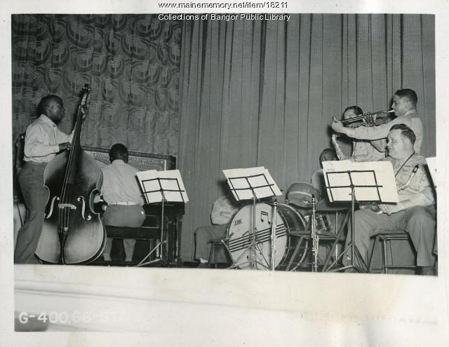 Dow Field band members, Bangor, 1944