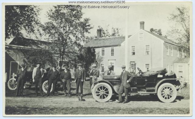 Roadsters, Burnell Tavern, West Baldwin, ca. 1916