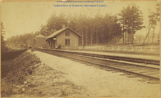 West Baldwin Station, ca. 1925