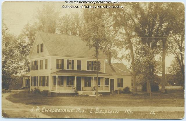 J. P.  Chadbourne homestead in East Baldwin