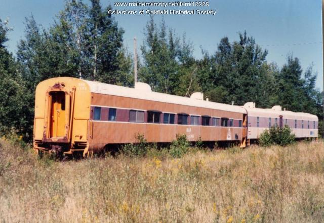 Bangor and Aroostook Railroad Crew Cars, Brownvville, ca. 1990