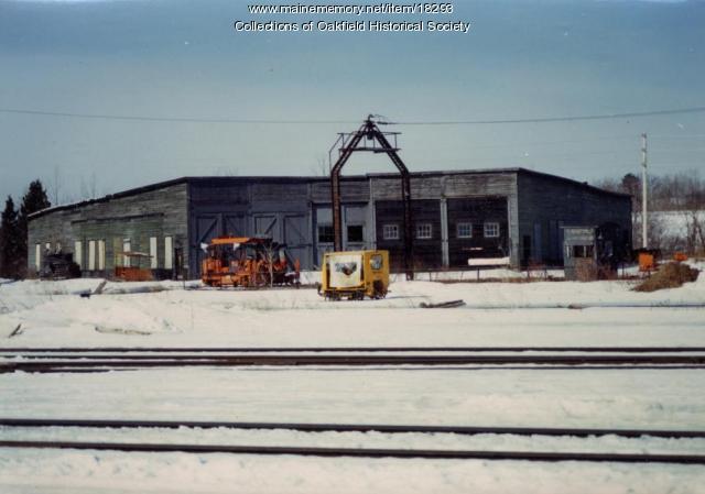 Bangor and Aroostook Railroad Roundhouse, Houlton, ca. 1990