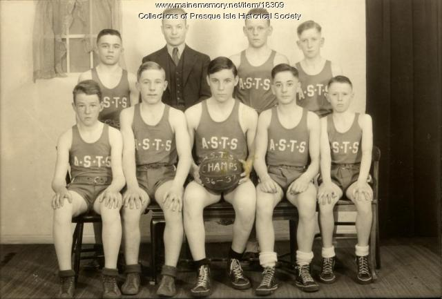 Aroostook State Traning School Basketball Team 1936 - 37