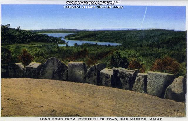 Long Pond from Rockefeller Road, Mt. Desert Island, ca. 1930
