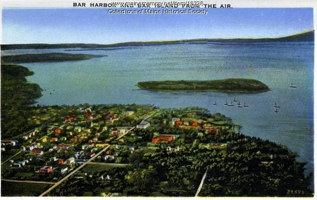 Bar Harbor and Bar Island, ca. 1930