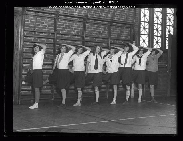 Class, Burnham Gym, Portland, 1927
