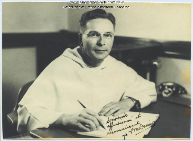 Rev. Francois Drouin, Lewiston, ca. 1950