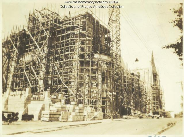 Sts. Peter and Paul construction, Lewiston, 1935