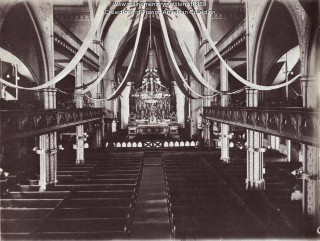 Interior, St. Peter Church, Lewiston, ca. 1900