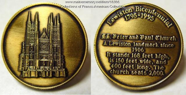 Lewiston Bicentennial Coin, 1995