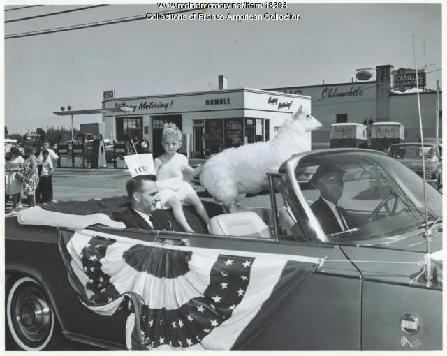 St. John's Day parade, Lewiston, 1964