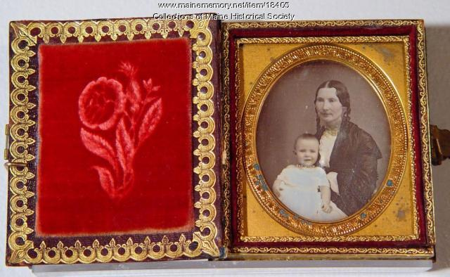 Unidentified woman with child, ca. 1850