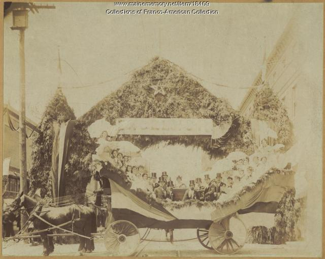 Float, Sts. Peter and Paul choir, Lewiston, 1896