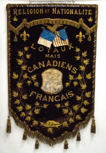 Jacques Cartier banner, Lewisston, ca. 1900