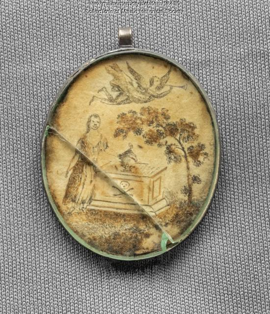 Wiswall mourning pendant, ca. 1775