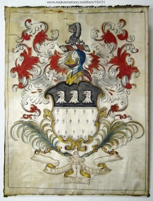 Barrell family coat of arms, York, ca. 1790