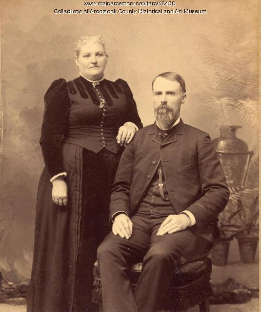 Reverend and Mrs. E. K. Drew, Hodgdon, c. 1880
