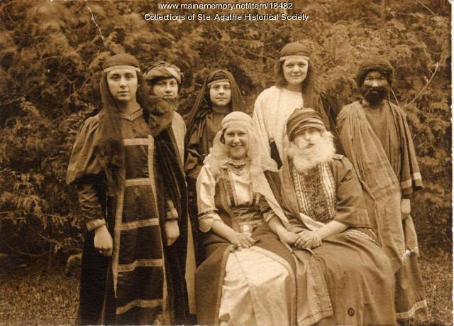 Cast of a school play, St. Agatha, 1923