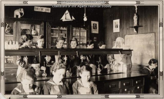 Science Class, St. Agatha High School, Notre Dame de la Sagesse High School, 1933